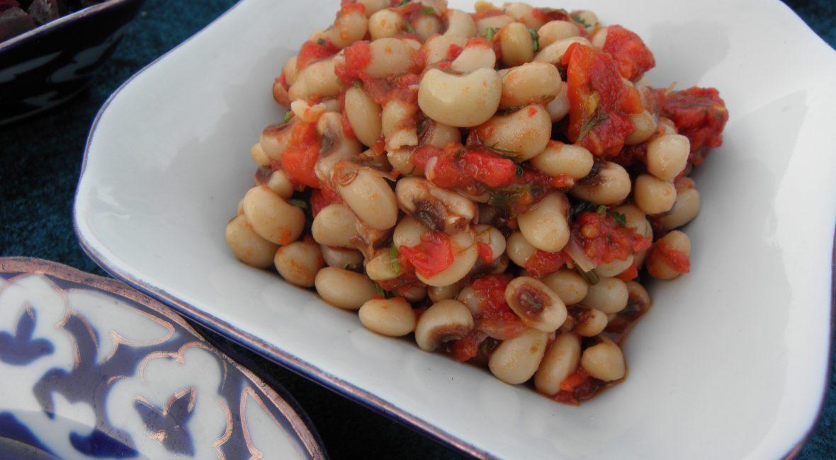 Usbekischer Bohnensalat