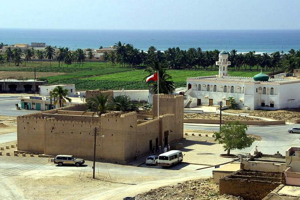 Blick auf das Taqah Castle