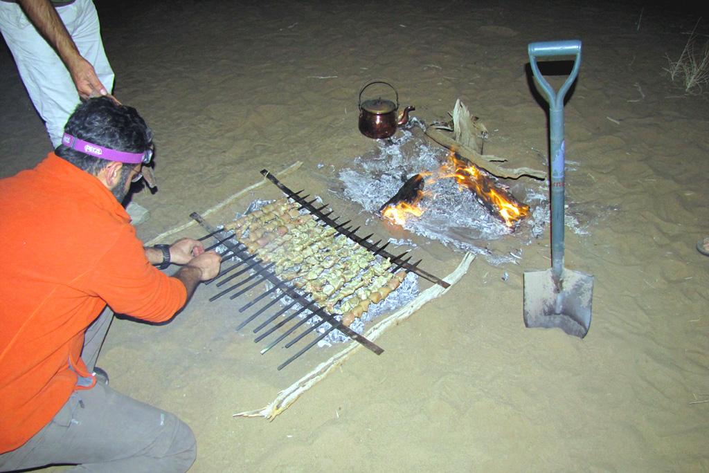 Wüstentour Fleischspieße