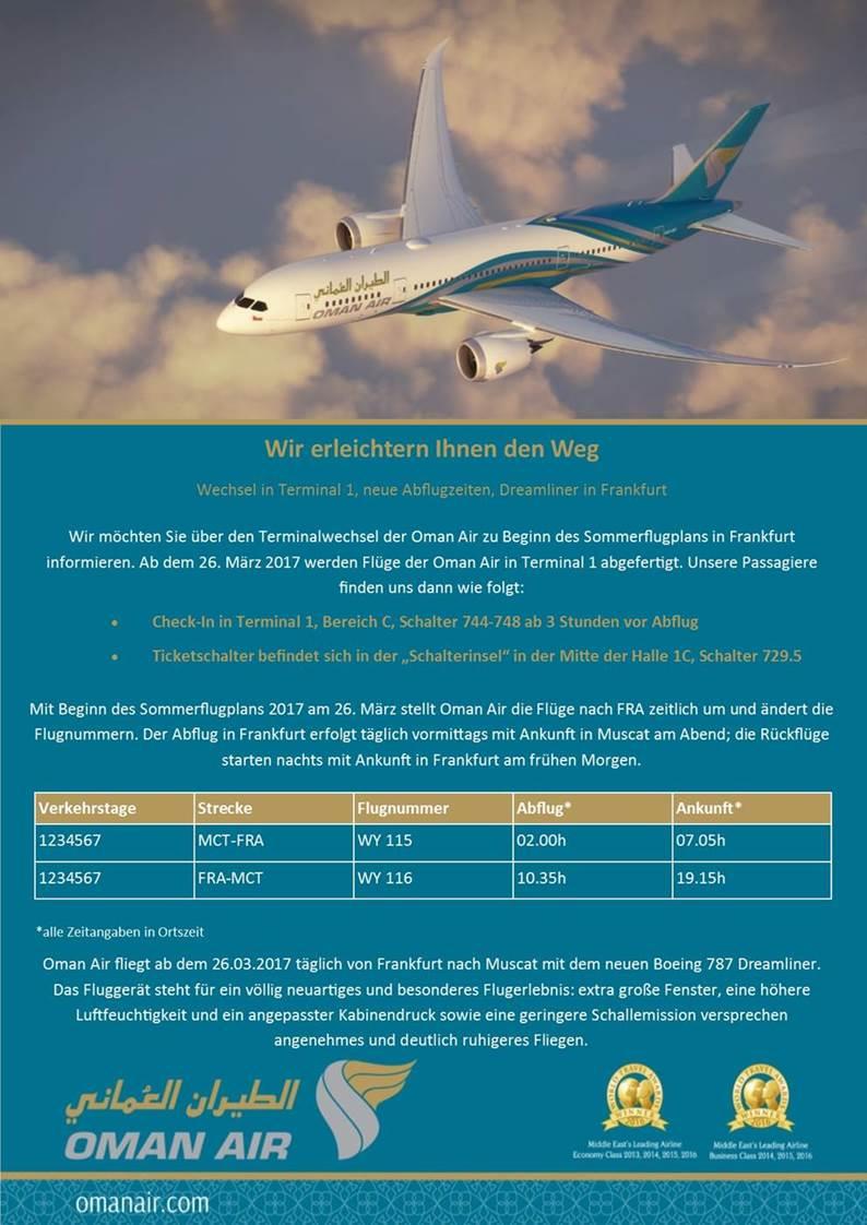 Oman Air: Terminalwechsel, Sommerflugplan & neuer Dreamliner - nomad