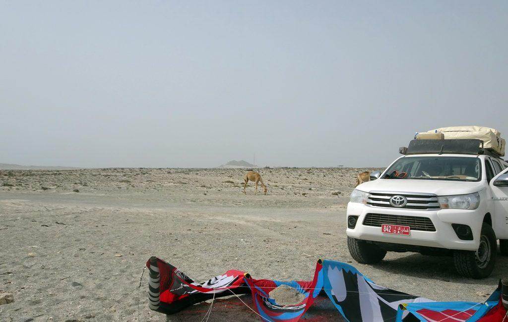 Kiteboarden in Oman