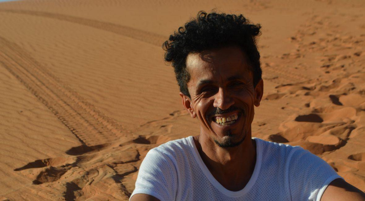 Ibrahim, unser Reiseleiter in Oman,der einige Jahre in Deutschland lebte, begleitet in Winter und Frühjahr wieder ausgesuchte Omanreisen