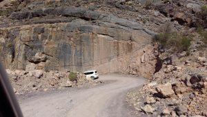 Beginn der Piste beim Wadi Bani Awf
