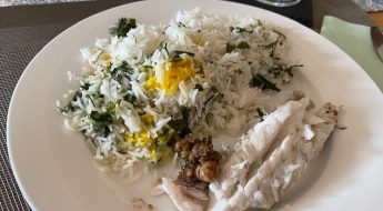 Rezept: gefüllter Fisch mit Kräuterreis