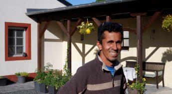 Ibrahim zuhause in Hersdorf